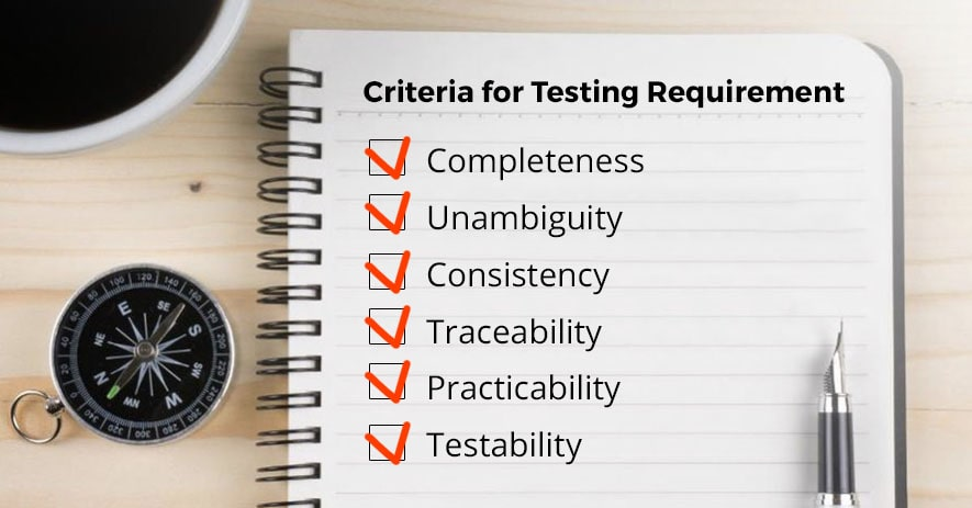 Criteria for Testing Requirement