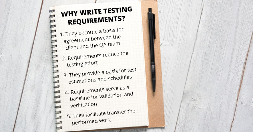 Why write testing requirements?