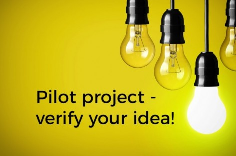 Verify your idea – run a pilot project