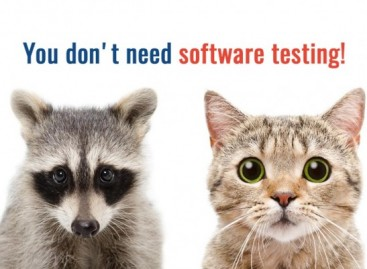 You don't need software testing, do you?