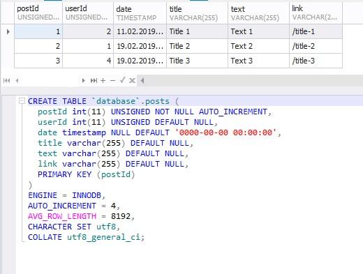 basic sql code