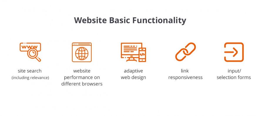 website basic functionality