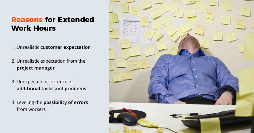 Reasons for extended work hours