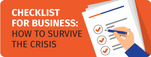 Checklist for business how to survive in crisis