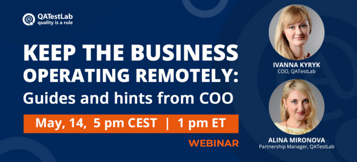 Webinar | Keep the business operating remotely: Guides and hints from COO